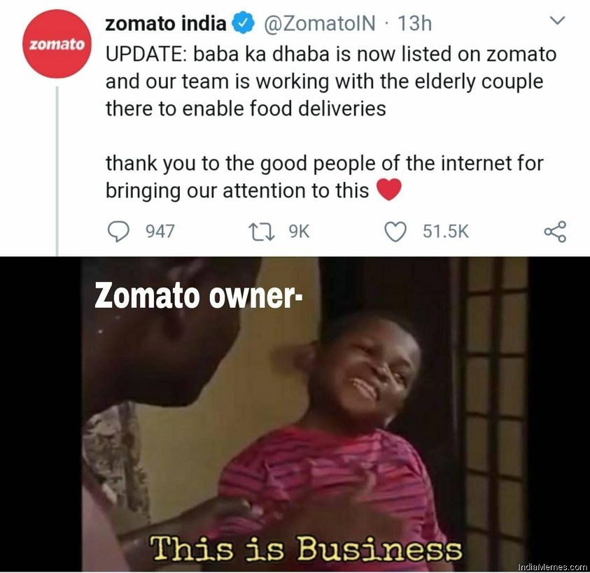 Le Zomato owner This is business meme.jpg