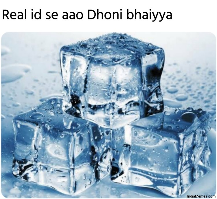 Real id se aao Dhoni bhaiyya meme