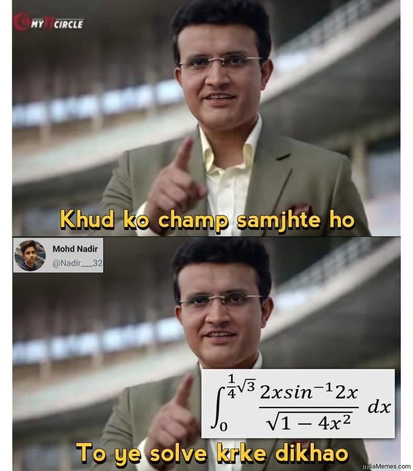 Khud Ko Champ Samjhte Ho Memes in Hindi