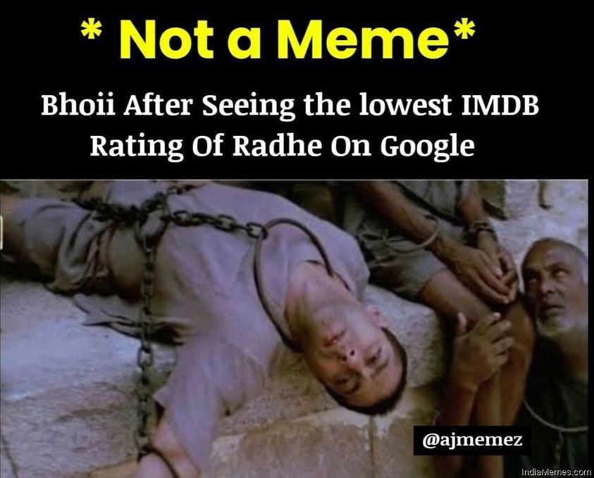 Radhe Movie Memes in Hindi